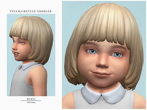 Tina Hairstyle toddlers by Merci ~ The Sims Resource for Sims 4