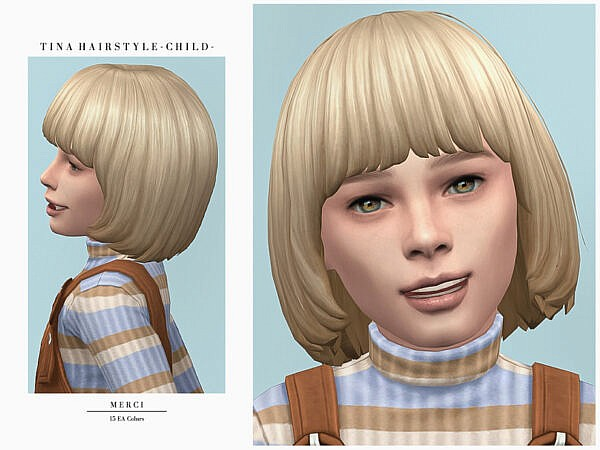 Tina Hair Child by Merci ~ The Sims Resource for Sims 4