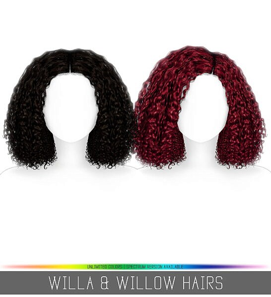 Willa and Willow Hairs ~ Simpliciaty for Sims 4