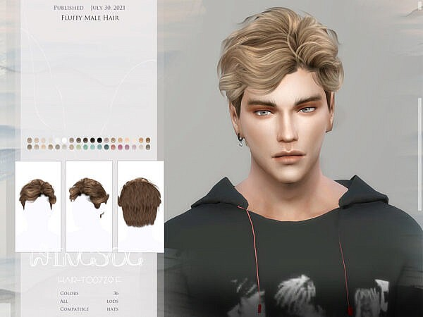WINGS TO0729 Fluffy Hair ~ The Sims Resource for Sims 4