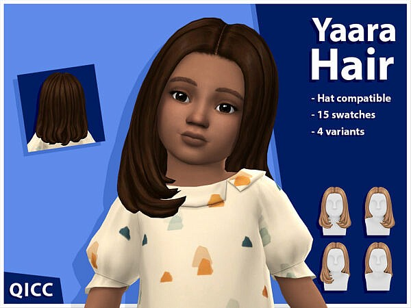 Yaara Hair Set by qicc ~ The Sims Resource for Sims 4