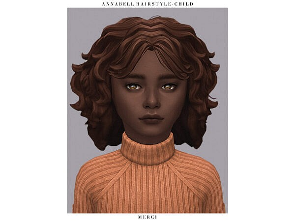 Annabell Hairstyle Child by Merci ~ The Sims Resource for Sims 4