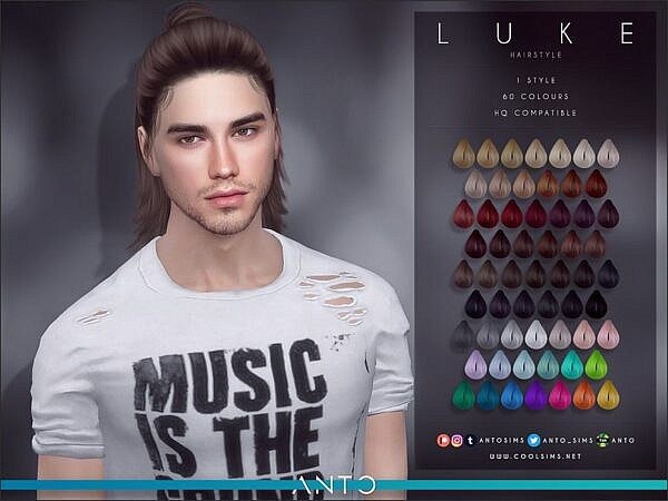 Anto`s Luke Hair M ~ The Sims Resource for Sims 4