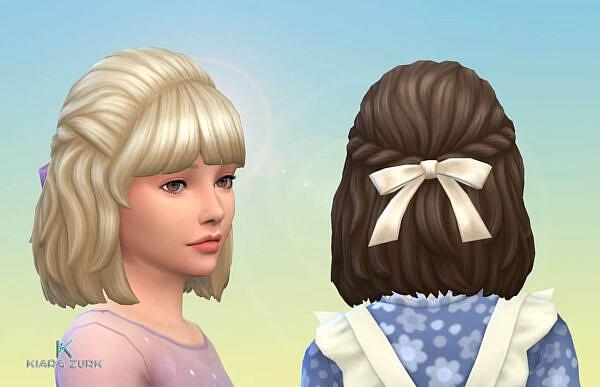Curly Semi Up ~ Mystufforigin for Sims 4