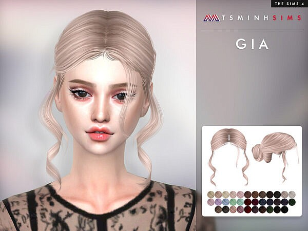 Gia Hairstyle by TsminhSims ~ The Sims Resource for Sims 4
