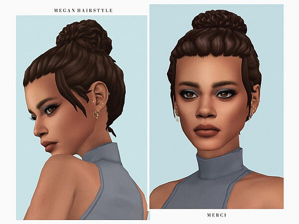 Megan Hairstyle by Merci ~ The Sims Resource for Sims 4