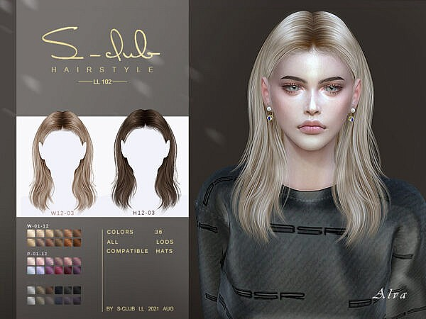 Shawl hairstyle by S Club ~ The Sims Resource for Sims 4
