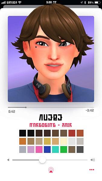 Nuebe hair ~ Marso Sims for Sims 4