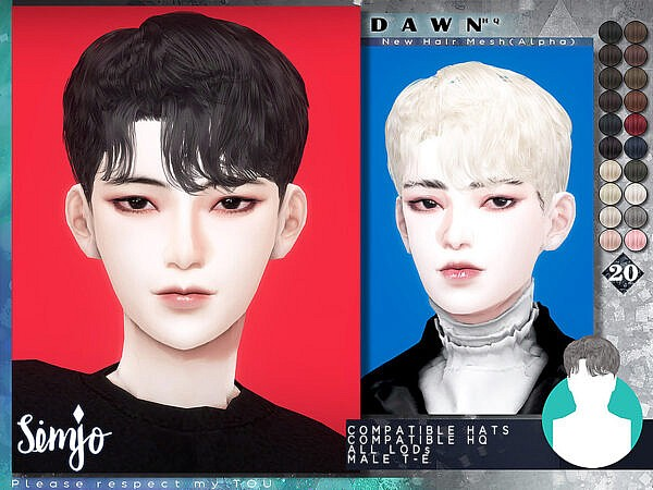 Male Hairstyle Dawn ~ The Sims Resource for Sims 4