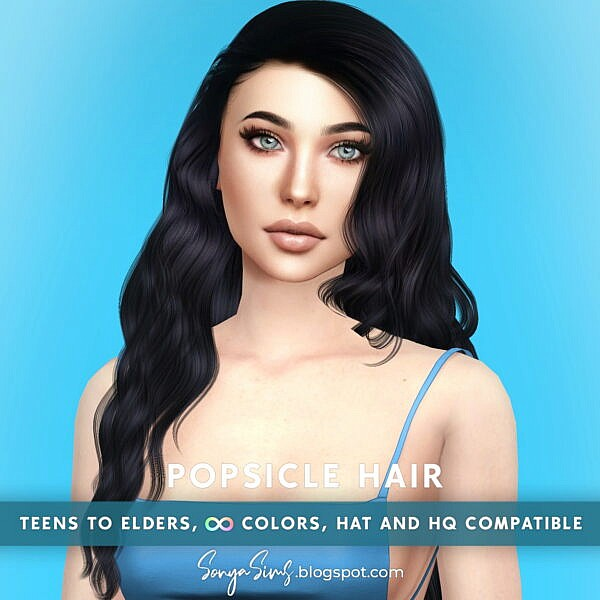 Popsicle Hair ~ Sonya Sims for Sims 4