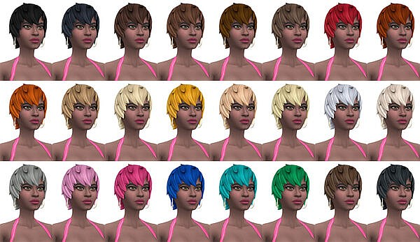 Fortnite Whiska Hair Conversion ~ Busted Pixels for Sims 4