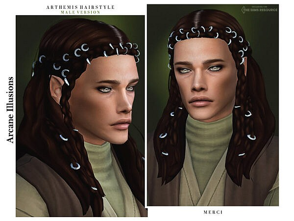 Arcane Illusions Arthemis Hair ~ The Sims Resource for Sims 4