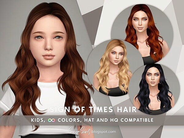 Sign of Times Hair ~ Sonya Sims for Sims 4
