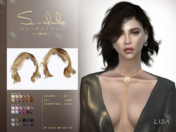Short wavy hairstyle ~ The Sims Resource for Sims 4