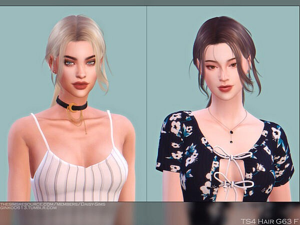 Female Hairstyle G63 ~ The Sims Resource for Sims 4
