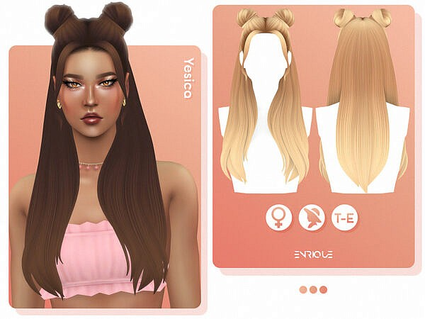 Yesica Hairstyle ~ The Sims Resource for Sims 4