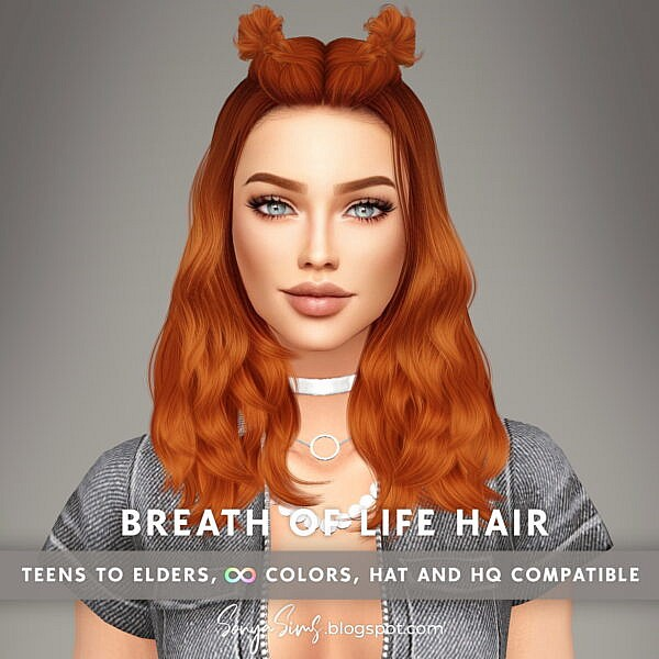 Breath of Life Hair ~ Sonya Sims for Sims 4