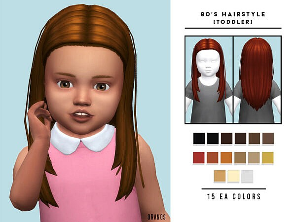 80s Hairstyle [Toddler] ~ The Sims Resource for Sims 4