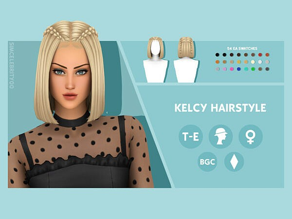 Kelcy Hairstyle ~ The Sims Resource for Sims 4