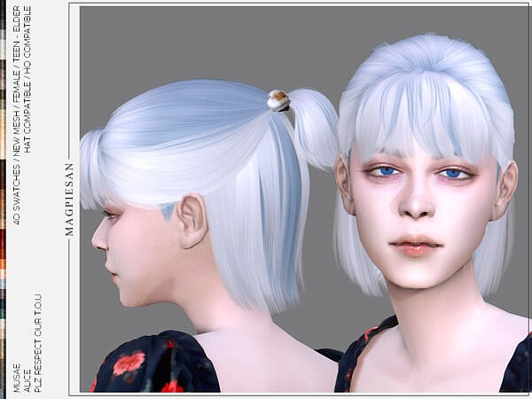 Alice Hairstyle ~ The Sims Resource for Sims 4