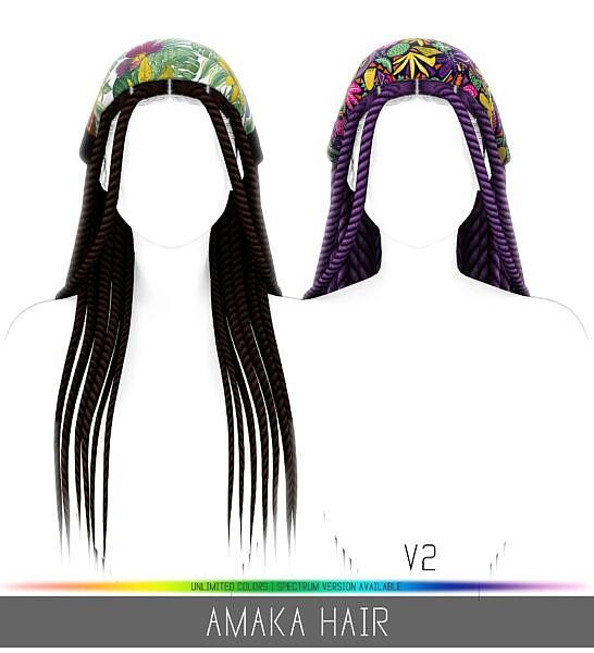 Amaka Hair ~ Simpliciaty for Sims 4