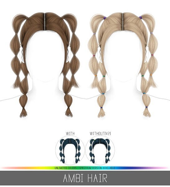 Ambi Hair ~ Simpliciaty for Sims 4