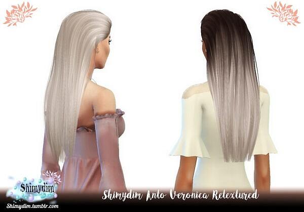 Anto`s Veronica Hair Retexture ~ Shimydim for Sims 4