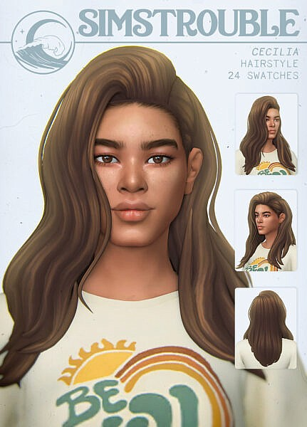 Cecilia Hairstyle ~ Simstrouble for Sims 4