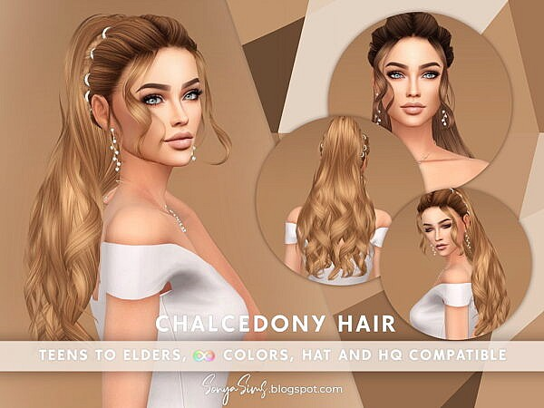 Chalcedony Hair ~ Sonya Sims for Sims 4