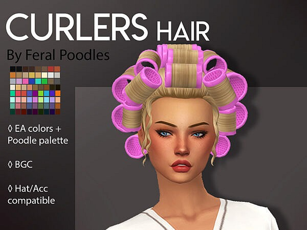 Curlers Hairstyle ~ The Sims Resource for Sims 4