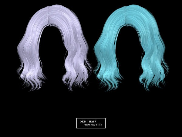 Angel, Demi and Cadence Hairs ~ Phoenix Sims for Sims 4