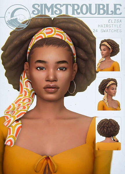 Elisa Hair ~ Simstrouble for Sims 4