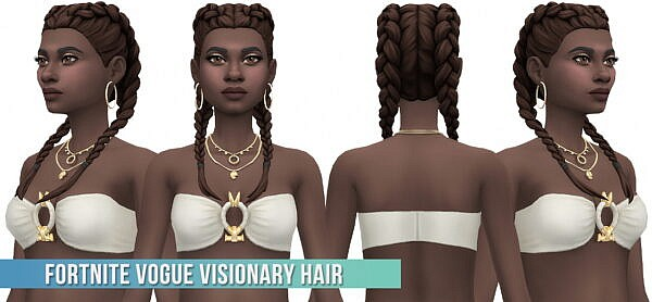 Fortnite Vogue Visionary Hair ~ Busted Pixels for Sims 4