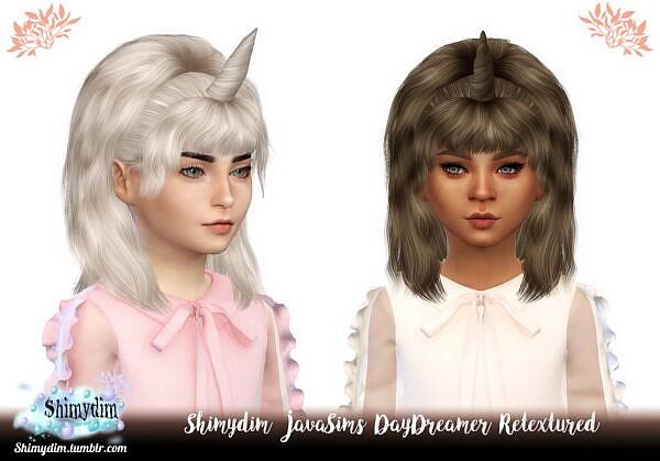 JavaSims DayDreamer Hair Retextured ~ Shimydim for Sims 4