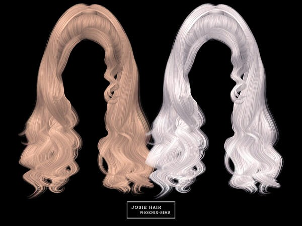 Josie Hair, Elsie Hair and Chelsea Hair ~ Phoenix Sims for Sims 4