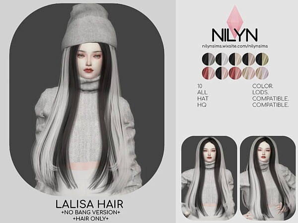 Lalisa Hairstyle ~ Nilyn Sims 4 for Sims 4