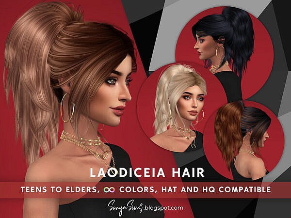 Laodiceia Hairstyle ~ The Sims Resource for Sims 4