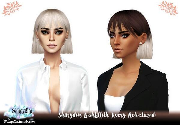 LeahLillith`s Avery Hair Retexture ~ Shimydim for Sims 4