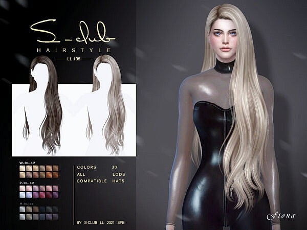 Long hair (Fiona) ~ The Sims Resource for Sims 4
