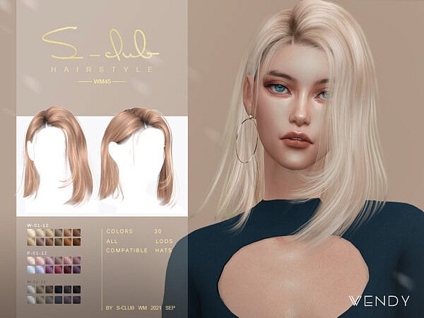 Medium straight hair ~ The Sims Resource for Sims 4