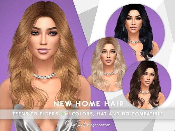 New Home Hair ~ Sonya Sims for Sims 4