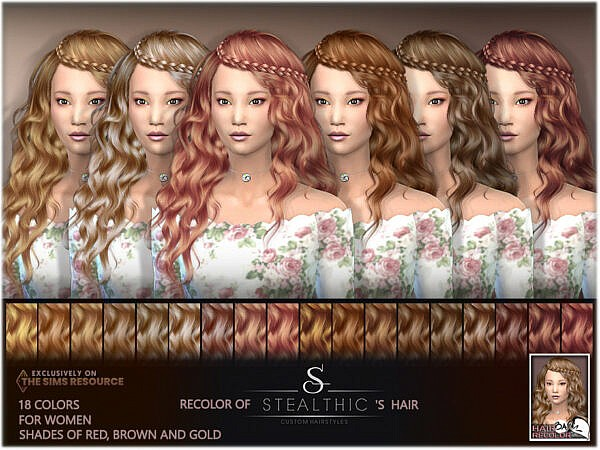Recolor of Stealthics Genesis Hair ~ The Sims Resource for Sims 4