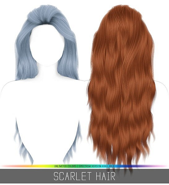 Scarlet hairstyle ~ Simpliciaty for Sims 4
