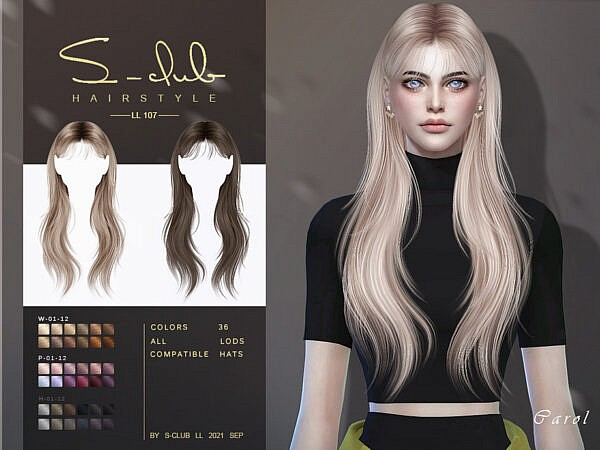 Shawl long hairstyle ~ The Sims Resource for Sims 4