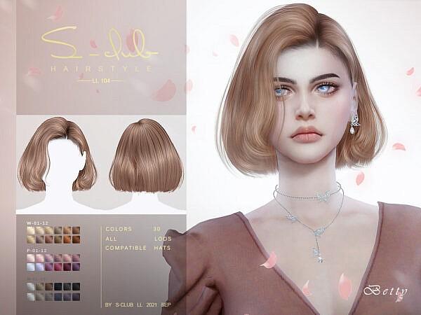 Short Bob cut hair by S Club ~ The Sims Resource for Sims 4