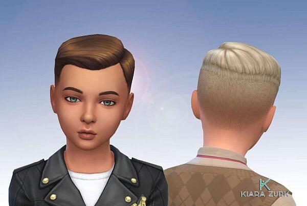 Short Crew Cut Side Part for Boys ~ Mystufforigin for Sims 4