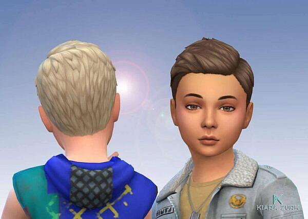 Short Swept Hair Converted ~ Mystufforigin for Sims 4