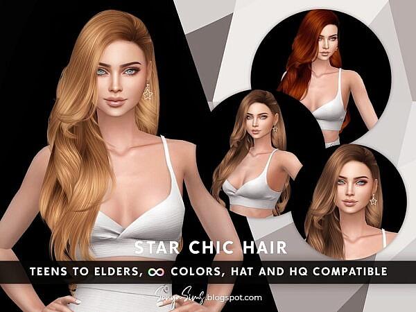 Star Chic Hair ~ Sonya Sims for Sims 4