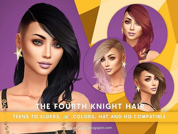 The Four Knight Hairstyle ~ Sonya Sims for Sims 4