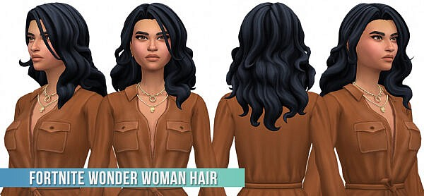 Wonder Woman Hair ~ Busted Pixels for Sims 4